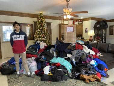 Peyton coat pile